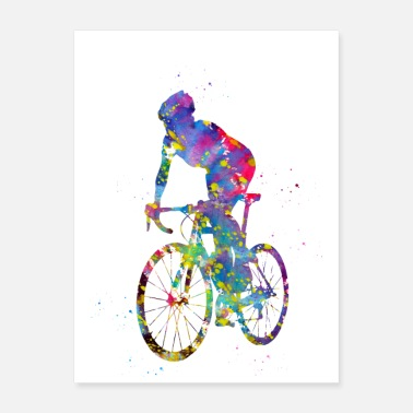 Sprinting Cyclist sprinting - Poster