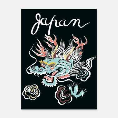 Wall Street Japanese Dragon wall art - Poster