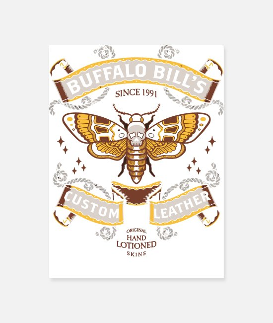 Silence Posters - Buffalo Bill's Custom Leather - Poster white
