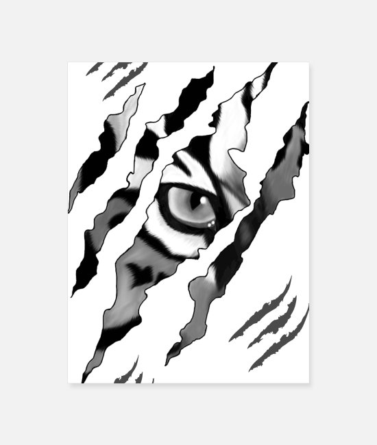 Raider Posters - Watch Out Tiger Cat Lion Wild - Poster white