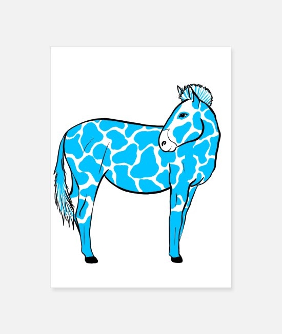 Alien Posters - Zebra with blue spots - Poster white