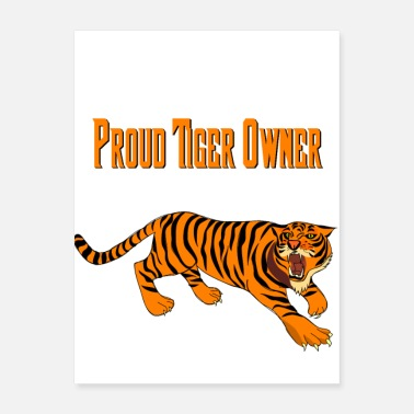 Wild Cat Proud Tiger Owner! African wild cat stripes - Poster