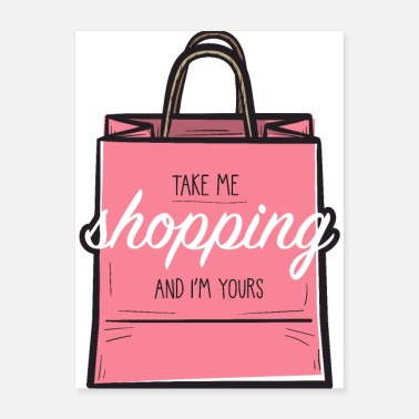 Shopping Cart Shopaholic - Poster