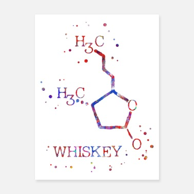 Chemical Formula Whiskey molecule - Poster