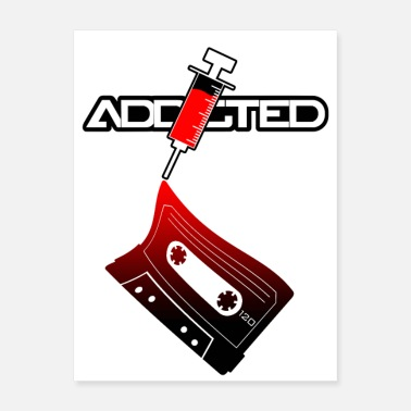 Audio Addicted Audio Cassette - Poster
