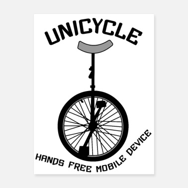 Curve Unicycle Mobile Device Curved - Poster