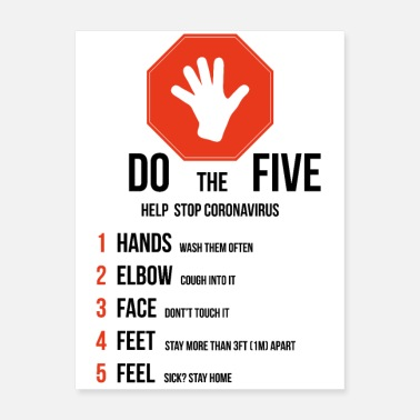 Pandemia Five rules to stop Coronavirus - Poster