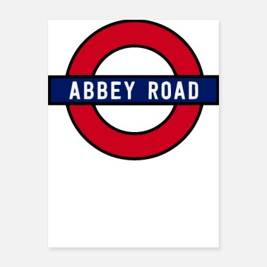 Road Running Abbey Road - Poster