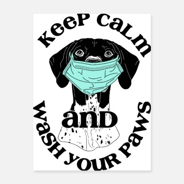 Pointer Keep Calm German Shorthaired - Poster