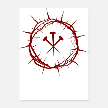 With Full Force Crown of Thorns with Nails - Poster