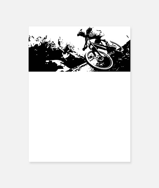 Mountains Posters - Gravity Series Mtb Design - Poster white