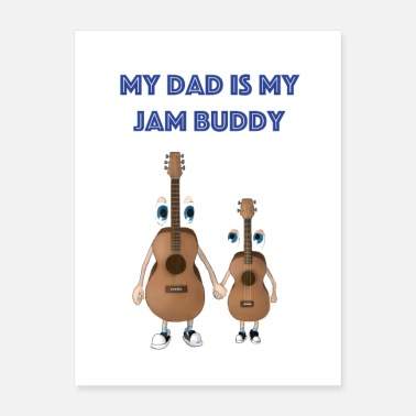 Sondre Dad and kid guitar - Poster