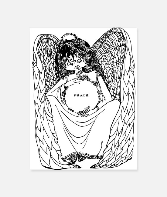 Peace For Paris Posters - Peace Angel - Poster white