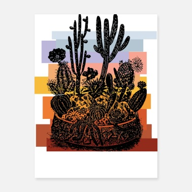 Warm Blood Warm and Fuzzy Cacti - Poster
