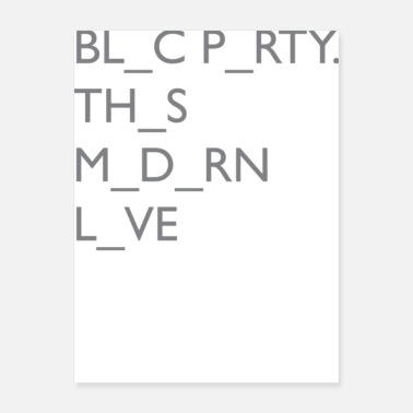 Modernist Bloc Party This Modern Love - Poster