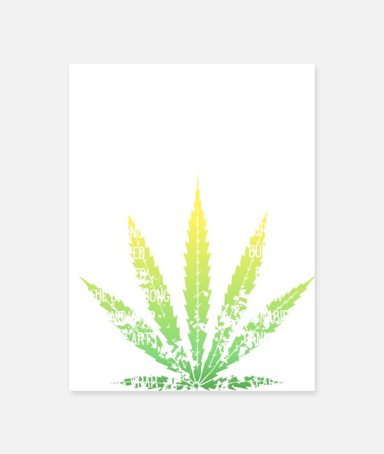 Weed Funny Posters - A through C Cannabis Slang - Poster white