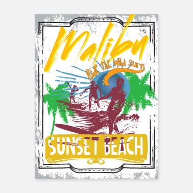 Malibu Malibu Sunset Beach - Poster