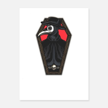 Plague Relaxed Plague Doctor Coffin - Poster