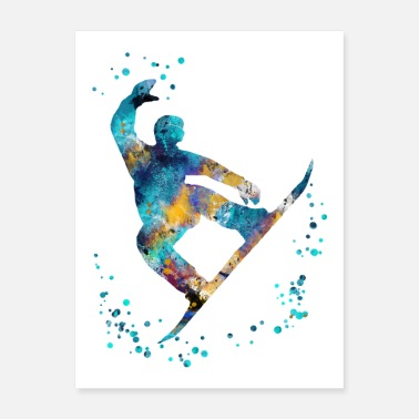 Snowboard Male snowboarder - Poster