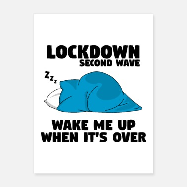 Coronavirus Outbreak Lockdown second wave - Poster