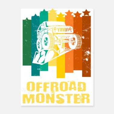Vehicle Offroad Vehicles T Shirt Offroad Monster Jeep gift - Poster