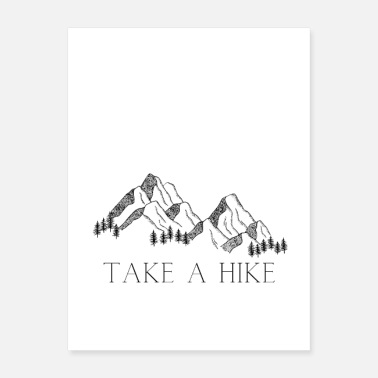 Hike TAKE A HIKE Mountain - Poster