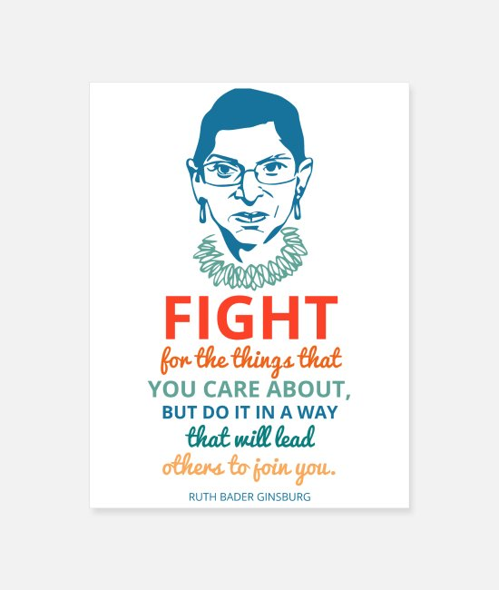 Resistance Posters - Fight for the things that you care about but do it - Poster white