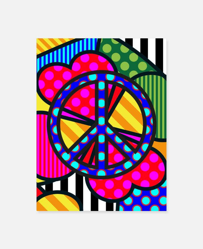 Peace For Paris Posters - Lucky Peace - Poster - Poster white