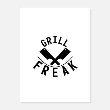 Grill Grill freak knife grill master BBQ - Poster