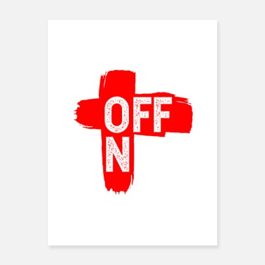Switch Off On Off brush stroke design - Poster