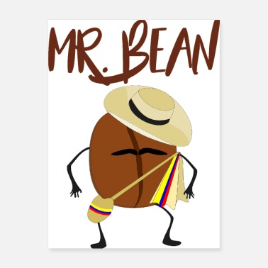 Bean Monster mr bean coffee - Poster