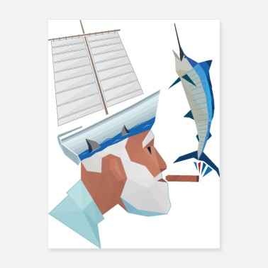 Cuba The Sea the Old Man and the Marlin - Poster