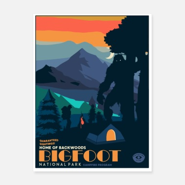 Sasquatch Bigfoot sasquatch - Poster