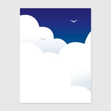 Clouds and Birds - Poster 18x24