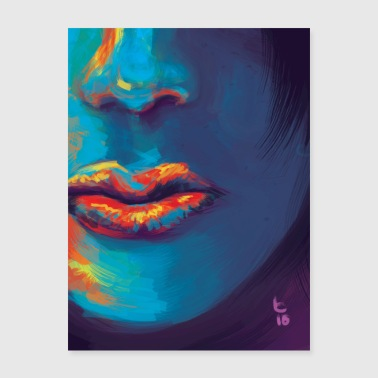 Painted Lips - Poster 18x24