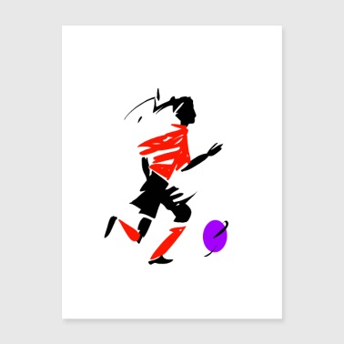 Woman playing soccer - Poster 18x24