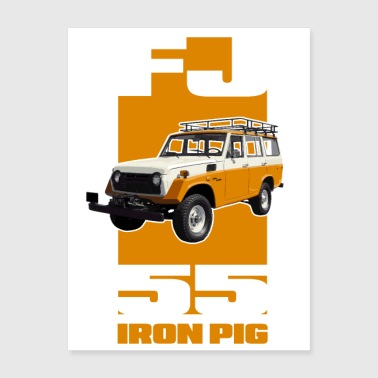 YELLOW FJ55 IRON PIG - Poster 18x24