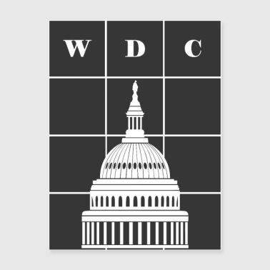 Washington, DC (WDC) and USA Capitol Building Dome - Poster 18x24