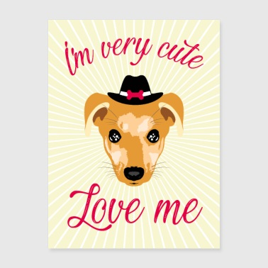 Cute dog poster pet. - Poster 18x24