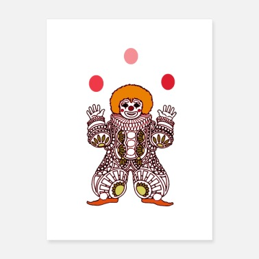 Performance Clown Juggling Poster - Poster