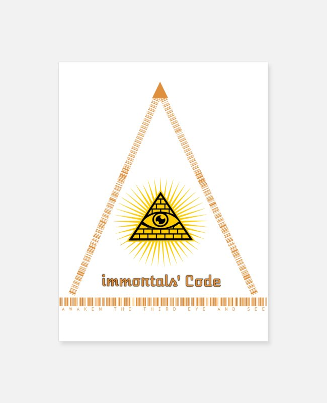 Eye Posters - Immortal's Code and Third-Eye secrets - Poster white