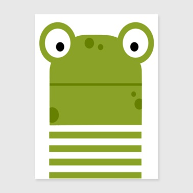 Cute Frog -Funny T-shirt - Poster 18x24