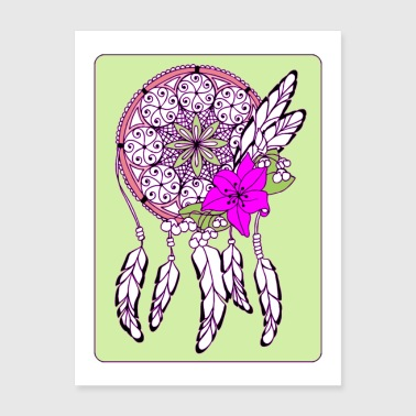 Dreamcatcher in Frame Poster - Poster 18x24