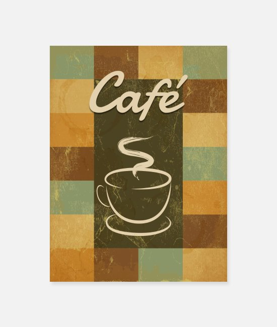 Heat Posters - An old fashioned coffee - Poster white