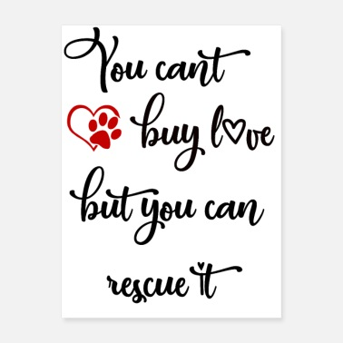 Profit You can't buy lov, but you can rescue it - Poster