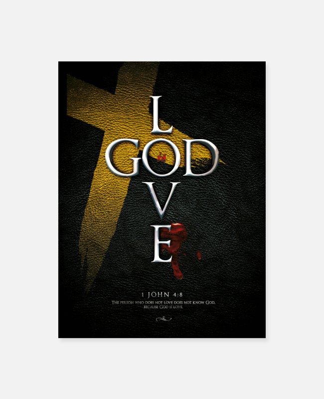 Cross Posters - God is Love - Poster white