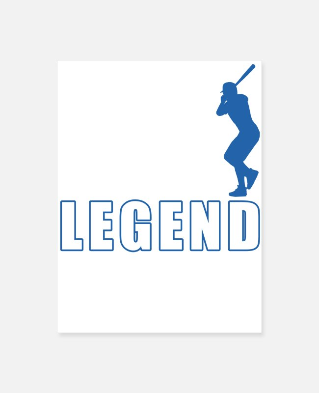 Legend Posters - Fantasy Baseball League Legend - Poster white
