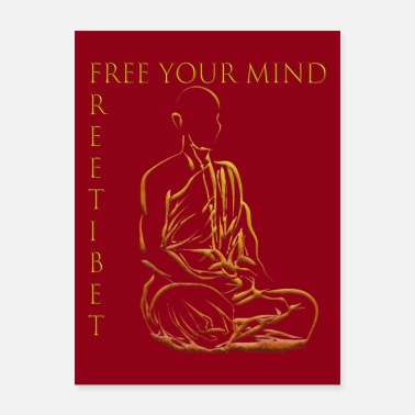 Print Free Tibet ~ Free Your Mind ~ Poster-Print - Poster