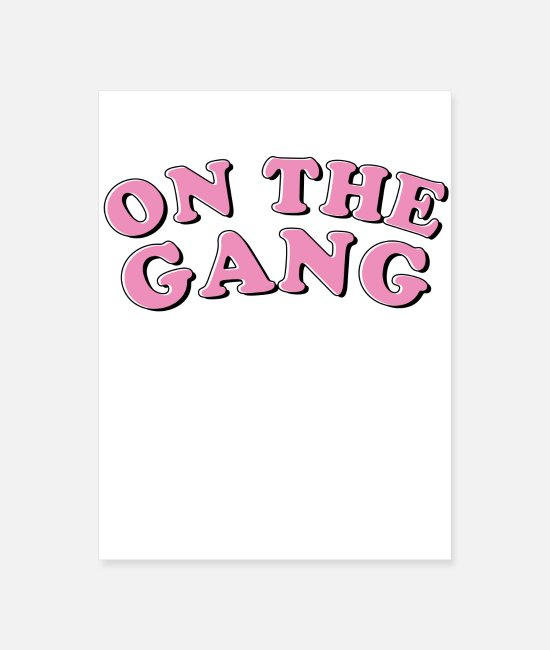 Rap Posters - On the gang girl's power blueface thotiana - Poster white