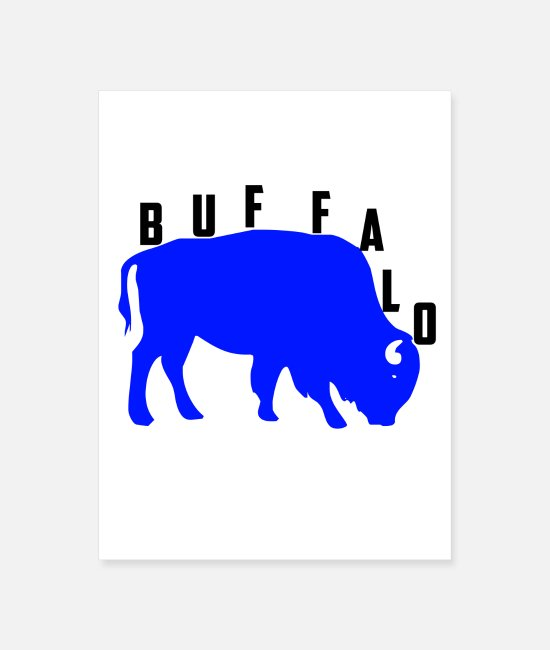 Nature Posters - Buffalo - Poster white